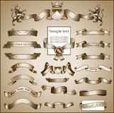 Page decorations. Set of retro ornaments,page decoration, antique and baroque frames Stock Image