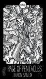 Page des pentagrammes dryade Image libre de droits
