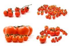 Page des tomates-cerises Photo libre de droits