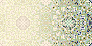 Page Design Template with Morocco Ornament. Abstract Background Stock Images