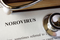 Page with diagnosis Norovirus. Royalty Free Stock Photos