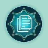 Page documents icon magical glassy sunburst blue button sky blue background. Page documents icon isolated on magical glassy sunburst blue button sky blue stock illustration