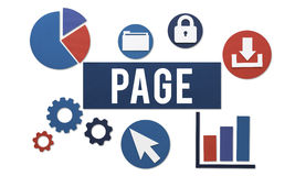 Page Documents Technology Digital Webpage Concept Stock Photography
