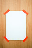 Page on a door Royalty Free Stock Photography