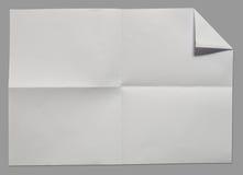 Page du livre blanc Photos stock