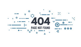 404 page error. 404 error page flat line concept. Link to a non-existent page. Abstract lines, dots and objects Stock Image