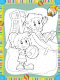 The page with exercises for kids - coloring book - illustration for the children Royalty Free Stock Photography