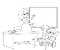 The page with exercises for kids - coloring book - illustration for the children Stock Photography