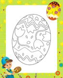 The page with exercises for kids - easter Stock Photos