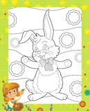 The page with exercises for kids - easter Royalty Free Stock Photos