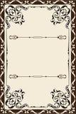 Page fleurie de victorian Photo stock