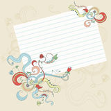 Page and Floral Decoration vector illustration