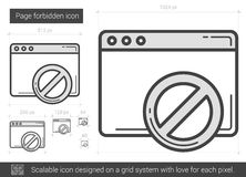 Page forbidden line icon. Royalty Free Stock Photos