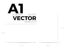 A1 page format white vector eps10 template. vertical and horizontal orientation. Design with A1 format size. Vector editable white page template vector illustration