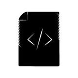 Page html coding web pictogram Royalty Free Stock Photo