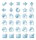 Page icons royalty free illustration