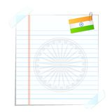 Page with Indian Flag. Easy to edit vector illustration of blank page with Indian flag stock illustration