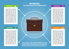 Page 1 of 4 for infographic with brief case Stock Photography