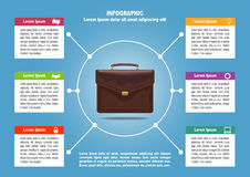 Page 4 of 4 for infographic with brief case Royalty Free Stock Photo