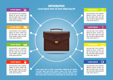 Page 3 of 4 for infographic with brief case Stock Images