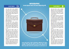 Page 2 of 4 for infographic with brief case. Page 2 of 4 for infographic, business documents, presentation etc with brief case Stock Images