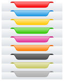 Page Labels or Tags Set. Collection of colorful page labels or tags. Eps file available vector illustration