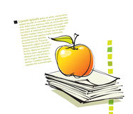 Page layout with apple icon, freehand drawing Stock Images
