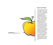 Page layout with apple icon, freehand drawing Royalty Free Stock Photos