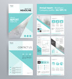 Page layout for company profile, annual report, brochure, and flyer layout template. With info graphic element. and vector A4 size for editable Stock Images