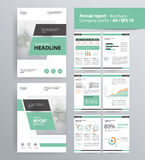Page layout for company profile, annual report, brochure, and flyer layout template. With info graphic element. and vector A4 size for editable Stock Photography