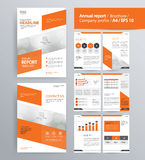 Page layout for company profile, annual report, brochure, and flyer layout template. With info graphic element. and vector A4 size for editable Royalty Free Stock Photo