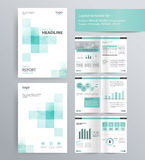 Page layout for company profile, annual report, and brochure template. Page layout for company profile, annual report, brochure, and flyer layout template. with Royalty Free Stock Image