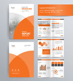 Page layout for company profile, annual report, and brochure template. Page layout for company profile, annual report, brochure, and flyer layout template. with Stock Images