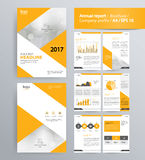 Page layout for company profile, annual report, and brochure template. Page layout for company profile, annual report, brochure, and flyer layout template. with Stock Photos