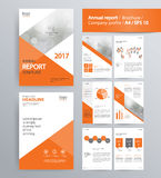 Page layout for company profile, annual report, and brochure template. Page layout for company profile, annual report, brochure, and flyer layout template. with Royalty Free Stock Photos