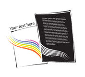 Page-layout design, artistic, rainbow motive Royalty Free Stock Images
