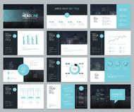Page layout design for business presentation and brochure Royalty Free Stock Photo