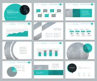 Page layout design for business presentation and brochure Royalty Free Stock Images