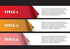 Page Layout Design of Peel Off Stickers Stock Photography