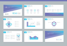 Page layout design template for presentation. And brochure , Annual report, flyer and book page with infographic elements design Royalty Free Stock Photography