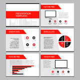 Page layout design template for presentation and brochure. Annual report, flyer page with infographic elements design Royalty Free Stock Photography
