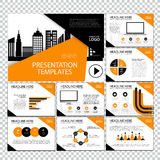 Page layout design template for presentation and brochure , Annual report, flyer page with infographic element. S design Royalty Free Stock Images