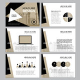 Page layout design template for presentation and brochure , Annual report, flyer page with infographic element Stock Photography