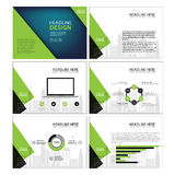 Page layout design template for presentation and brochure , Annual report, flyer page with infographic element. S design Stock Images