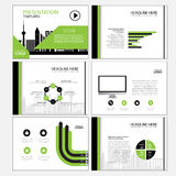 Page layout design template for presentation and brochure , Annual report, flyer page with infographic element Royalty Free Stock Image