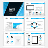 Page layout design template for presentation and brochure , Annual report, flyer page with infographic element Royalty Free Stock Photography