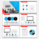 Page layout design template for presentation and brochure , Annual report, flyer page with infographic element. S design Royalty Free Stock Photos