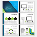 Page layout design template for presentation and brochure , Annual report, flyer page with infographic element Stock Photos