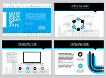 Page layout design template for presentation and brochure , Annual report, flyer page with infographic element. S design Stock Photography
