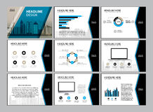 Page layout design template for presentation and brochure , Annual report, flyer page with infographic element. S design Royalty Free Stock Photography